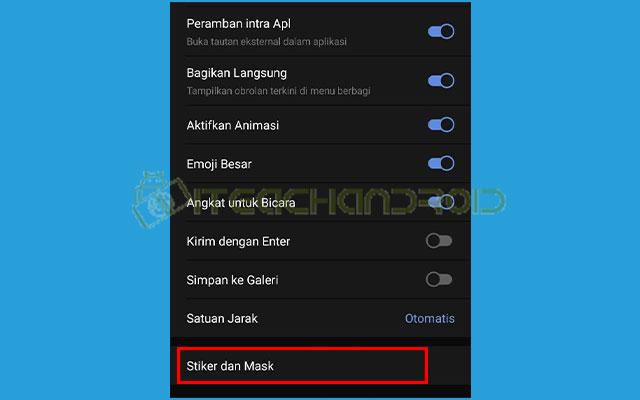 4. Pilih Stiker dan Mask