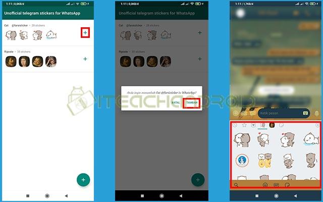 4. Tambahkan Stiker ke WhatsApp