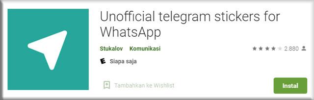 Memindahkan Stiker Dengan Unofficial Telegram Stickers for WhatsApp
