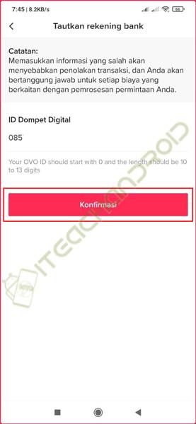 9. Masukkan ID OVO