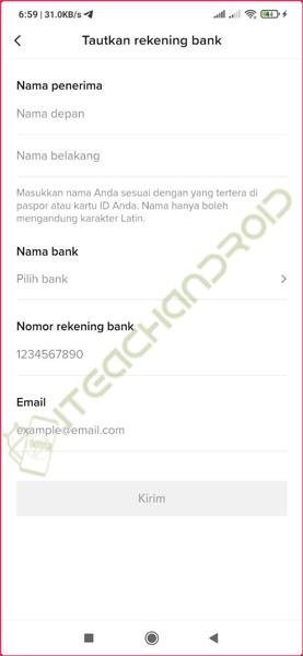 9. Tautkan Rekening Bank