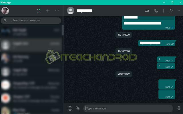 2. Cara Kirim Pesan Kosong di WhatsApp Web