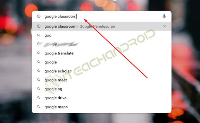 Ketik Google Classroom