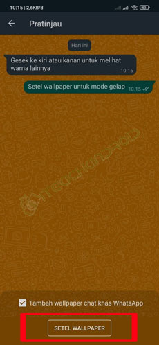 Tap Setel Wallpaper
