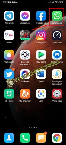 1. Silakan Buka Aplikasi WhatsApp