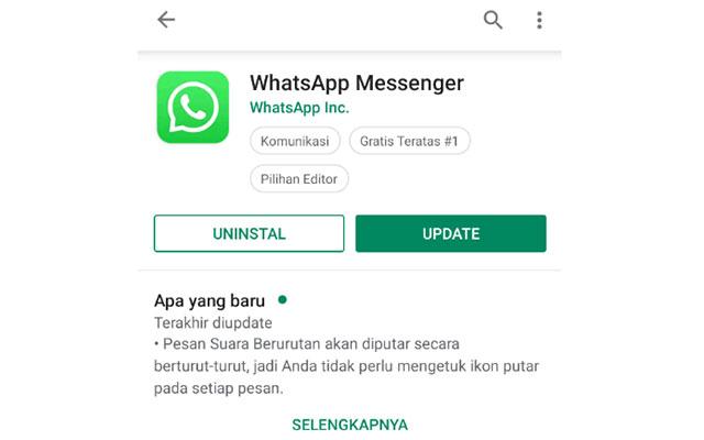4. Update Aplikasi WA