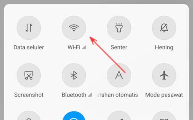 1. Lakukan On Off WiFi