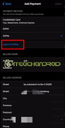 6. Tap Masuk ke GoPay