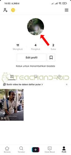 3. Tap Foto Profil